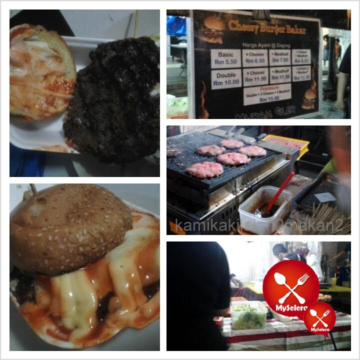 cheesy burger bakar reko