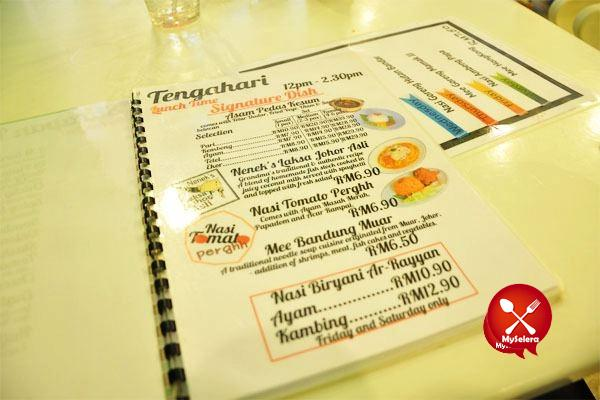 Menu Tumes Cafe Cheras