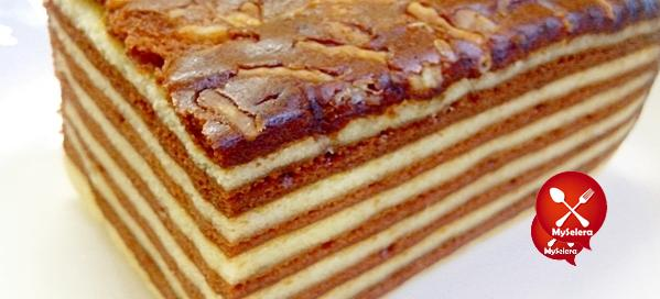 -- Kek Lapis Cheese Coklat