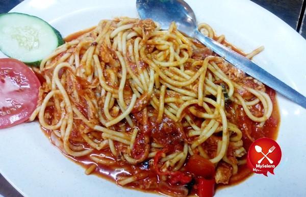 Bolognese Spaghetti di Restoran Nasi Arab Al Edrus Kuala Terengganu